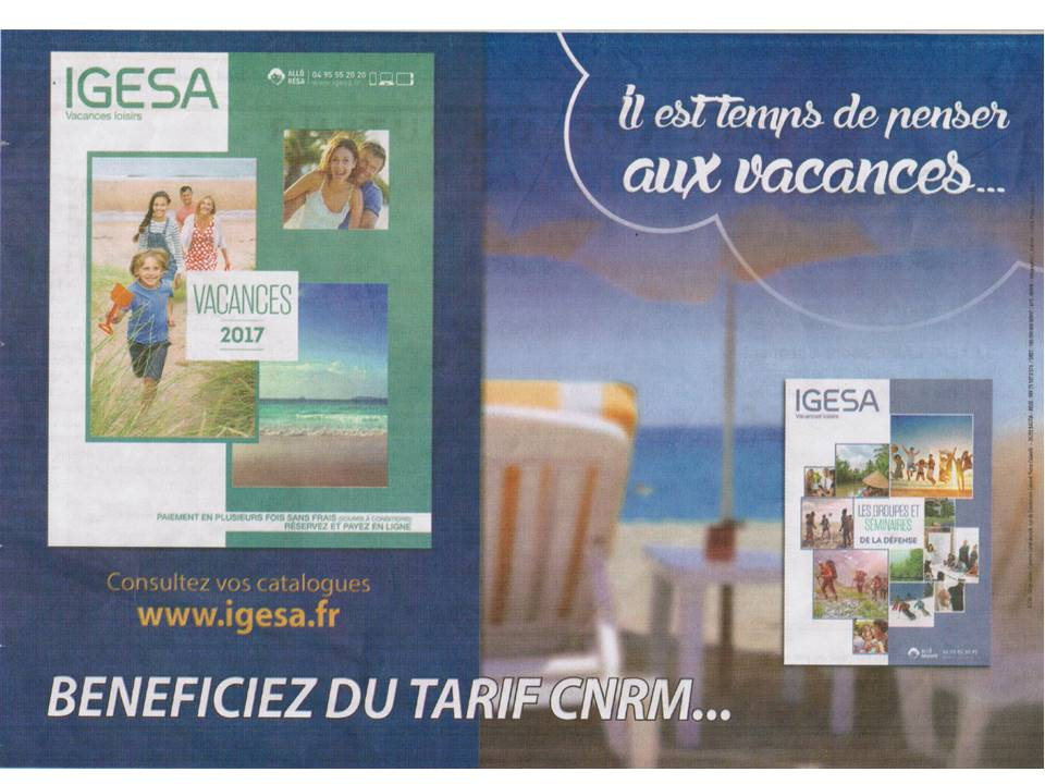 Profitez de l`offre IGESA CNRM